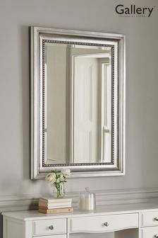 Beaded Pewter Mirror by Gallery