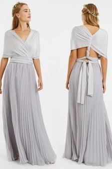 Oasis Grey Wear It Your Way Maxi Dress