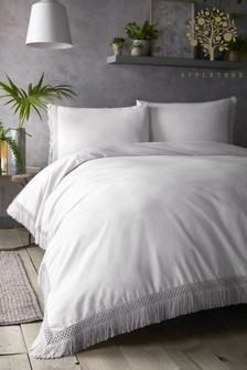 Appletree Tasha Cotton Tassel Duvet Cover and Pillowcase Set