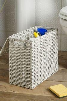 Plastic Wicker Slimline Box Storage