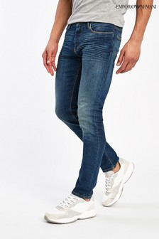 Emporio Armani J06 Slim Fit Mid Wash Jeans