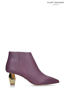 Kurt Geiger Ladies Della Purple Leather Boots