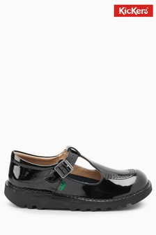 Kickers® Black Patent Kick T-Bar Shoe
