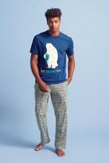 Graphic Print Long Pyjama Set