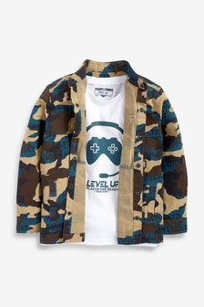 Shirt And T-Shirt Set (3-16yrs)