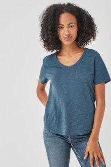 Gap Short Sleeve V-Neck Pocket T-Shirt