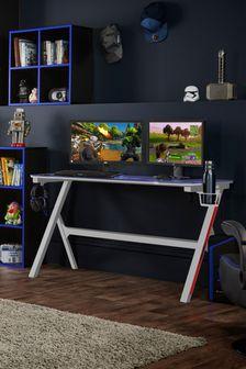 Velar White Gaming Desk By Virtuoso