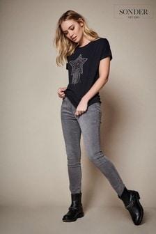 Sonder Studio Grey Seam Detail Jeans