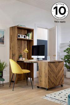 Bronx Bookcase to Desk