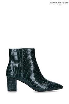 Kurt Geiger London Dark Green Burlington Ankle Boots