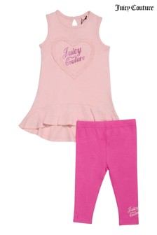 Juicy Couture Heart Frill Dress and Legging Set