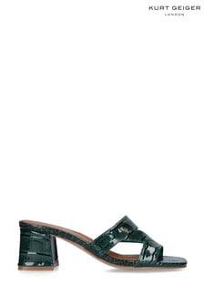 Kurt Geiger Ladies Green Print Heels