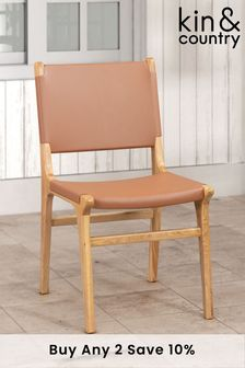 Kin & Country Amalia Leather Chair Set of 2