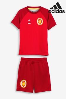 adidas Little Kids Marvel T-Shirt And Shorts Set