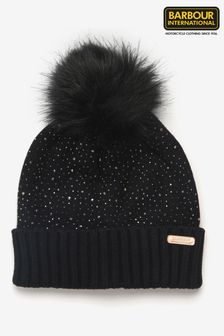 Barbour® International Podium Knitted Beanie With Pom