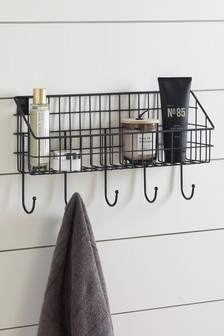 Bronx Wire Shelf with Hooks