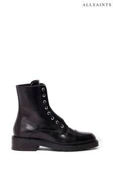 AllSaints Black Ariel Zip Boots