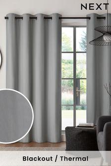 Eyelet Blackout/Thermal Cotton Curtains