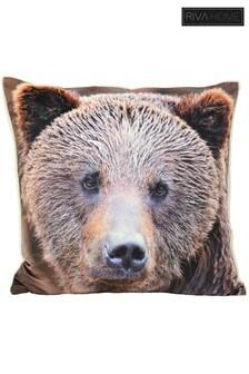 Riva Home Faux Sherpa Fleece Bear Cushion