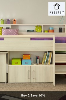 Kurt Midsleeper With Pull Out Desk Cupboard And Shelving By Parisot
