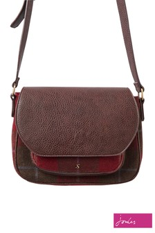 Joules Red Darby Tweed Saddle Bag