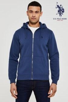 U.S. Polo Assn. Blue Core Fleece Zip Hoody