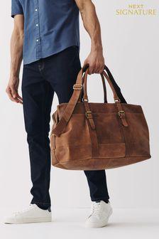 Signature Leather Holdall