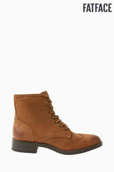 FatFace Brown Camilla Lace-Up Boots