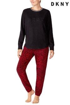 DKNY Fleece Top And Joggers Pyjama Set