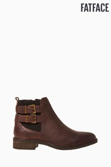 FatFace Brown Dalby Double Strap Chelsea Boots