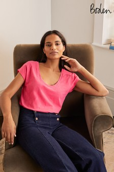 Boden Pink The Cotton Voop T-Shirt