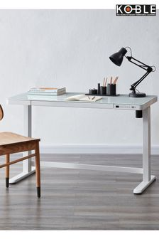 Juno White Smart Desk by Koble