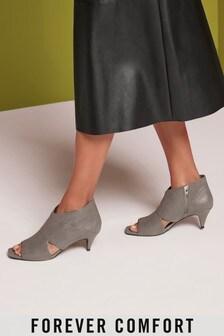 Cut Out Kitten Heel Shoe Boots
