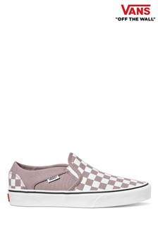 Vans Womens Asher Check Trainers