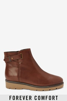 Forever Comfort® Buckle Wedge Boots