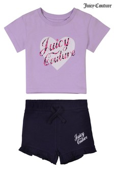 Juicy Couture Heart T-Shirt and Short Set