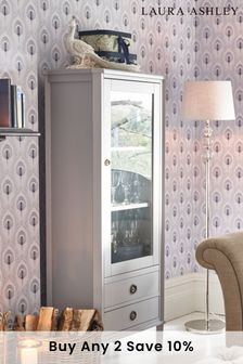 Henshaw Pale Charcoal 1 Door 2 Drawer Display Unit by Laura Ashley