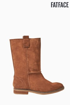 FatFace Brown Maine Mid Boots