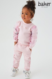 Baker by Ted Baker Pink Sweat Top and Joggers Set