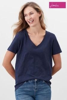 Joules Celina Solid V-Neck T-Shirt