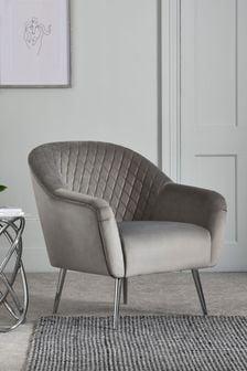 Hamilton Armchair With Chrome Legs