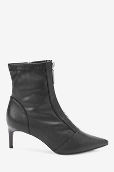 Zip Detail Sock Boots