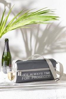 2 Person Metallic Slogan Wine Cooler