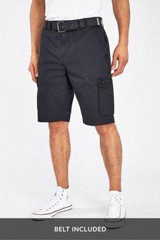 Belted Utility Cargo Shorts