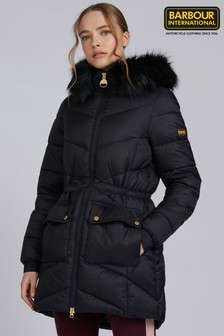 Barbour® International Black & Khaki Green Tampere Puffer Quilted Jacket