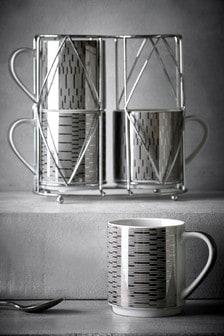 Set of 4 Clarence Stacking Mugs