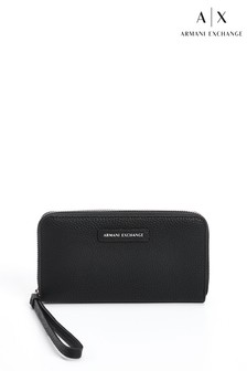Armani Exchange Black Wristlet