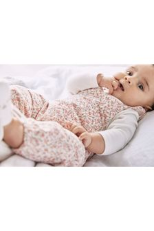 Ditsy Dungarees (0mths-3yrs)