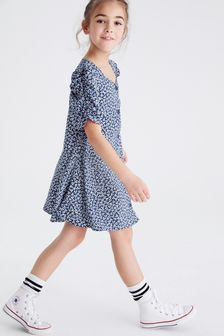 Shirred Sleeve Dress (3-16yrs)