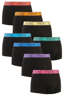 Bright Rainbow Waistband Hipsters Eight Pack